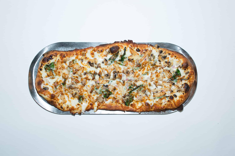 the smokin herb pizza